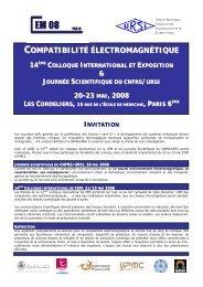 COMPATIBILITÉ ÉLECTROMAGNÉTIQUE - URSI-France