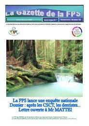 La Gazette de la FPS / Avril-Mai-Juin 2003 / N° 23 Page 1