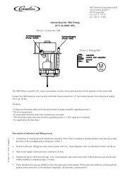 Instruction for SR4 Pump (P/N 44-0000-100) - IMI Cornelius