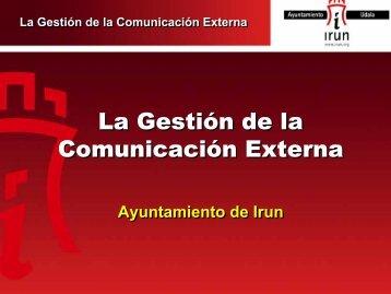 Plan de Gestión de la Comunicación del Ayuntamiento