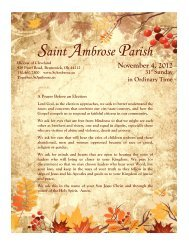 November 4, 2012 - Saint Ambrose Parish