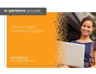 Amdocs Digital Commerce Solution