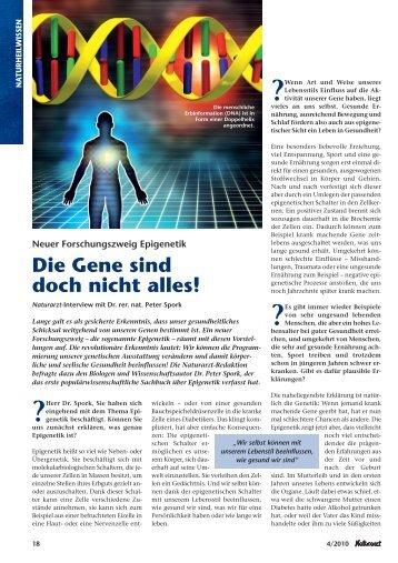 Die Gene sind doch nicht alles! - Lernwelt