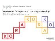Danske erfaringer med omsorgsteknologi