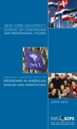 programs in american - School of Continuing and Professional ...