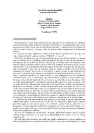 Control de constitucionalidad concentrado y difuso - Facultad de ...