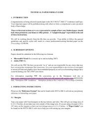 Technical Paper Format Guide - Waterjet Technology Association