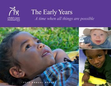 FY12 Annual Report PDF - Child Care Resources