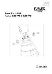 Spare Parts List Furlex 200 TD & 300 TD