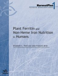 Plant ferritin and non-heme iron nutrition in humans