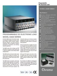PROGRAMMABLE DC ELECTRONIC LOAD MODEL 63600 SERIES