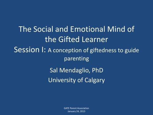 Presentation slides - Faculty of Education - University of Calgary