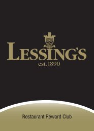 Our Restaurants - Lessing's