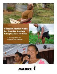 1417557518_Climate Justice Calls for Gender Justice - MADRE Concept Note