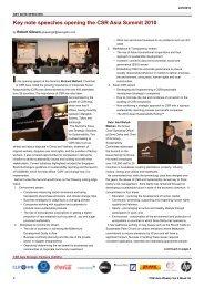 Key note speeches opening the CSR Asia Summit 2010