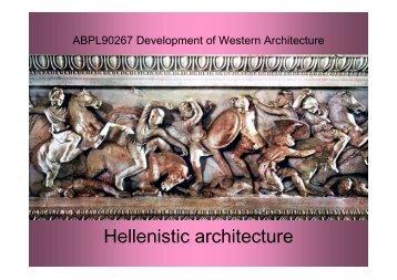 Hellenistic architecture - Miles Lewis