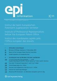 epi - European Patent Institute