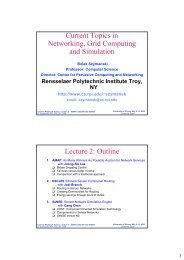 Current Topics in Networking, Grid Computing and Simulation ...