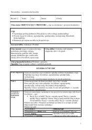 Učna enota: ORIENTACIJA V PROSTORU –vaje za - Praktik