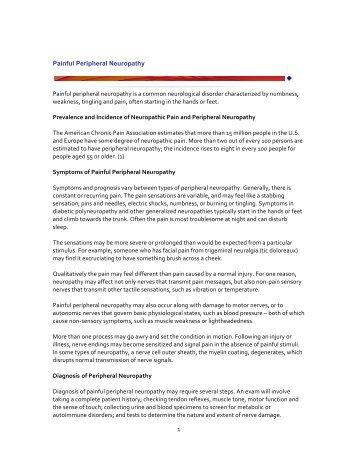 Painful Peripheral Neuropathy - International Neuromodulation ...