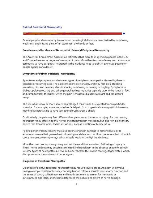 Painful Peripheral Neuropathy - International Neuromodulation