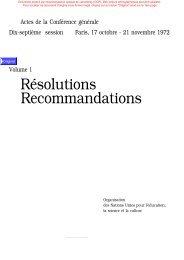 Convention concernant la protection du ... - unesdoc - Unesco