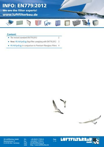 INFO: EN779:2012 - HS Luftfilterbau GmbH