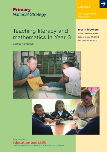 Teaching literacy and mathematics in Y3: Course handbook - PGCE
