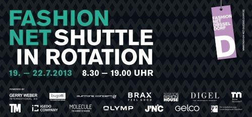 FASHION NETSHUTTLE IN ROTATION - Fashion Net Düsseldorf