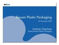 Rexam Plastic Packaging - presentation slides [20 November 2008]
