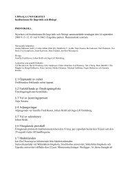 UPPSALA UNIVERSITET - Institutionen för lingvistik och filologi