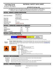 JP-K28 Printing Ink | Material Safety Data Sheet : Hitachi America, Ltd.