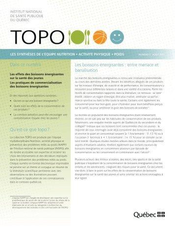 TOPO de l'INSPQ sur les boissons énergisantes - Agence de la ...