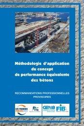 Méthodologie d'application du concept de performance équivalente ...