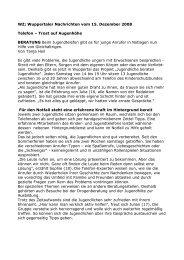 WZ; Wuppertaler Nachrichten vom 15. Dezember 2008 Telefon ...