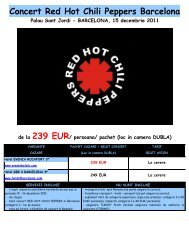 Concert Red Hot Chili Peppers Barcelona Palau Sant Jordi - Corali