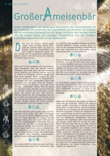 Ameisenbär - Tierparkfreunde Hellabrunn eV