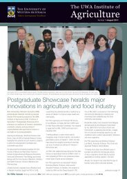 2011-08_Newsletter - The UWA Institute of Agriculture - The ...