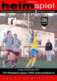 8. Heft gegen TURA Untermünkheim 25.11.2011 - TSV Pfedelbach