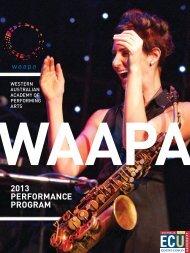 2013 PERFORMANCE PROGRAM - Western Australian Academy of ...