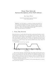 Fuzzy Time Intervals System Description of the FuTI–Library