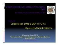 El Proyecto MuNet Catastro - CPCI