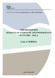 Viduskurzemes atkritumu apsaimniekošanas ... - Vides ministrija