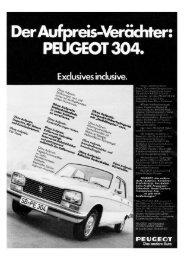 1972 - 304 Limousine - beim PEUGEOT 204/304 TEAM