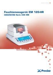 Feuchtemessgerät EM 120-HR - Precisa