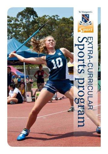 Sports Handbook 2013 - St Margaret's Anglican Girls School
