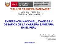 Experiencia de la Carrera Sanitaria en Perú, avances y desafíos