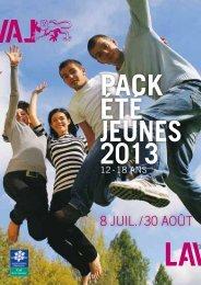Le pack été jeunes - Laval