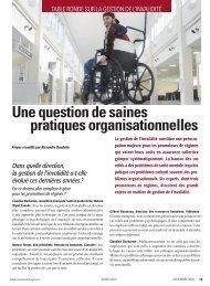 Une question de saines pratiques organisationnelles - Conseiller