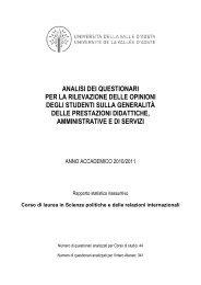 SPO 2010/2011 - Università della Valle d'Aosta